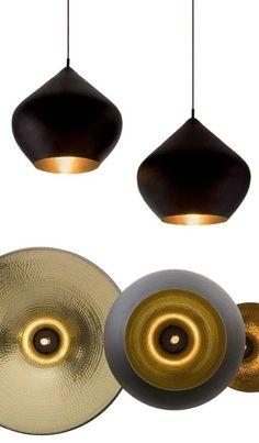 Beat Pendant Light 20.5-inch Stout Large Black/Copper from Tom Dixon Beat Lights