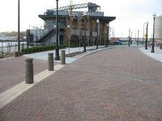 The Flats East Bank development in Cleveland used clay pavers to match the feeling of the district's old brick streets. Photo: Pine Hall Brick