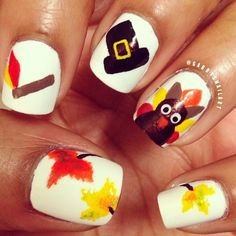 Thanksgiving Nail Art With Shellac Check Out Mynailpolisho