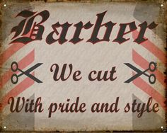BARBER SHOP hair salon VINTAGE antique medieval SIGN wall decor display art