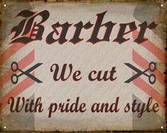 BARBER SHOP hair salon VINTAGE antique medieval SIGN wall decor display art