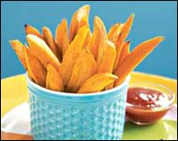 Baked butternut squash fries.  I put olive oil, kosher salt, pepper, ginger powder and ground cloves on them.  Tasted like steak french fries and were awesome...