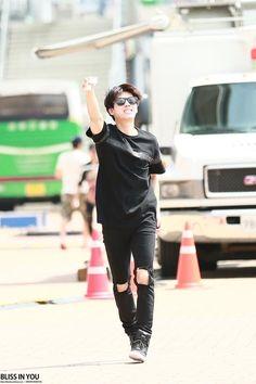 150727 #인피니트 Woohyun - Leaving MBC Music Core Ulsan Summer Festival