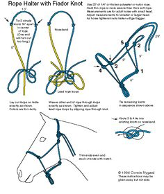 DIY instructions to make a rope halter! I need to buy one. :D This is exactly how I made mine!!