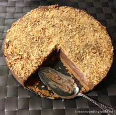 {Thermomix} Thermomix No Bake Nutella Cheesecake