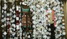 anthropologie snowflake window