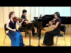 aria cheregosha & melody lin playing brahms piano trio no 1 in b major! very lovely!