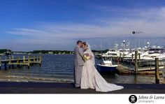 - Point Pleasant Wedding Photographer: Ashley & Jack got married at the Clarks Landing Yacht Club in Point Pleasant, NJ. A beautiful wedding venue that sits at the bank of Manasquan river. This early morning Photograph was taken right after the first look at the marina. Jack & Ashley are into fishing & boats and this was the perfect venue to do their pictures. Clarks Landing reception hall has beautiful glass windows over looking the waters which provides a lot natural light which is…