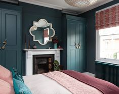 Farrow & Ball Inchyra Blue, voted Colour Of The Year by Homes & Gardens Magazine. Farrow & Ball In Gold Bedroom, Bedroom Green, Bedroom Colors, Home Decor Bedroom, Bedroom Ideas, Interior Design Themes, Scandinavian Interior Design, Farrow And Ball Inchyra Blue, Farrow Ball