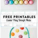 Easter Play Dough Mats (Free Printables)