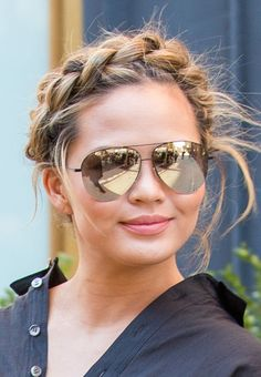 Some braids are best left to the pros and others are worth enlisting that one friend who knows how to french braid (we all only have one)–these fall under both categories. These celebrity braids like Chrissy Teigen's crown brad, are all the fall hair inspiration you need, plus there's something for every hair type.