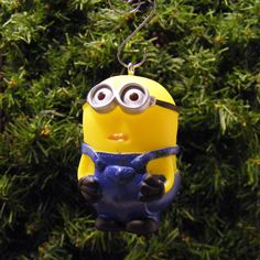 Despicable Me Minion Dave Christmas Ornament by ReGeekery on Etsy