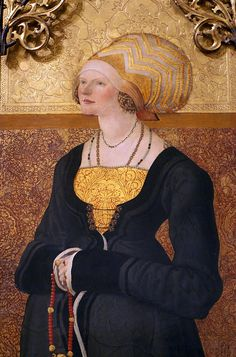 Meister der Stalburg-Bildnisse, Bildnis der Margarete Stalburg, Ausschnitt (Portrait of Margarete Stalburg, detail), 1504 from the www.staedelmuseum.de/