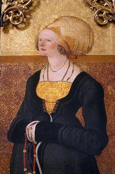 Meister der Stalburg-Bildnisse, Bildnis der Margarete Stalburg, Ausschnitt (Portrait of Margarete Stalburg, detail) by HEN-Magonza, via Flickr