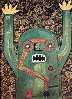 enrico baj, personnage hurlant, 1964