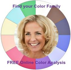 FREE Online Color Analysis - find your Tonal color circle #color analysis