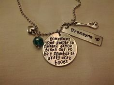 Knight in Shining Armor Hand Stamped Plumber by SouthernImprint