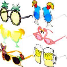 Fancy Dress Mens Womens Glasses Novelty Nerd Pineapple Straw Top Gun Aviator