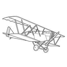 vintage airplane coloring pages - Printable Kids Colouring ...