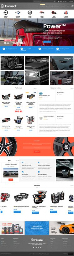 Parasol is amazing Responsive Multipurpose Magento Theme packed with 20+ unique skins to cover any kind of online business. #car #automobile #website