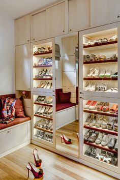 Glass Door Shoe Cabinet Home Design Ideas, Pictures, Remodel and Decor