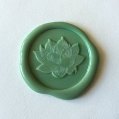 Peace Lotus Flower Nature Wax seal stamp by blackmarketintl