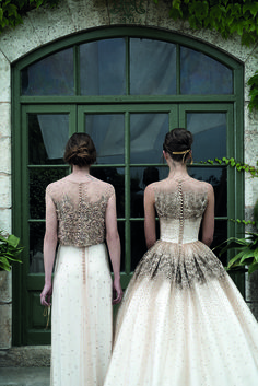 Jesus Peiro 2015 wedding dresses - bronze and copper beading is absolutely gorgeous!
