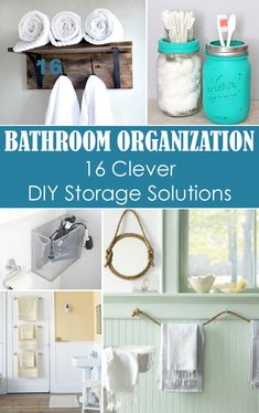 Small Bathroom Organization: 16 Clever DIY Storage Solutions