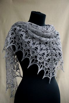 Shawl: Ravelry: Mercury In Retrograde pattern by Deborah Frank Shawl Patterns, Lace Patterns, Knitting Patterns, Crochet Patterns, Crochet Edgings, Crochet Motif, Crochet Shirt, Knit Or Crochet, Lace Knitting