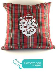 A Merry Christmas Santa pillow. from Kate Izzy & Bean http://www.amazon.com/dp/B017DX6E1K/ref=hnd_sw_r_pi_dp_Aa.mwb1PKFK3J #handmadeatamazon