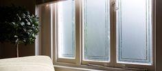 Image result for patterned window film uk Window Design, Door Design, Glass Office Doors, Glass Doors, Frosted Window Film, Diy Shutters, Window Shutters, Buy Windows, Interior Windows
