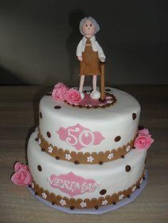 Sarah 50 jaar stippen taart/ Sarah 50 years polkadot cake