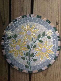 Original Art Ceramic Mosaic Of Flowers. Made by by HappyFamilyArt, $50.00