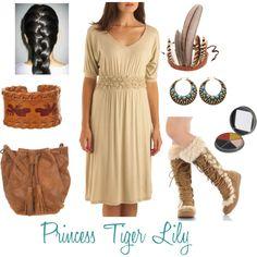 """Princess Tiger Lily"" by moonshoespotterdftba on Polyvore"