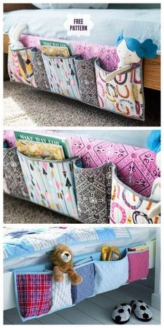 DIY Bedside Pocket Organizer Kostenlos Schnittmuster & Tutorial - Stricken ist s . # Sewing Tutorials Pockets DIY Bedside Pocket Organizer Kostenlos Schnittmuster & Tutorial - Stricken ist s . Diy Projects To Sell, Crafts To Make And Sell, Easy Sewing Projects, Sewing Projects For Beginners, Easy Diy Crafts, Diy Crafts For Kids, Sewing Hacks, Sewing Tips, Sewing Tutorials