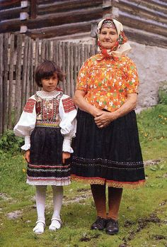 Slovak Women's Costume and embroidery region in  Ždiar. http://folkcostume.blogspot.com - thanks Roman!
