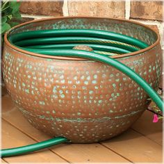 CobraCo® Copper Hose Holder   The CobraCo® Copper Hose Holder Is A  Brilliant And Simple Solution For Obscuring And Organizing Your Garden Hose.