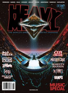 Cover artwork for the latest issue of Heavy Metal Magazine #287 the music special. Those who follow my work might know that im a big fan of many of the artist who works and has worked for the magazine and its French predecessor Métal Hurlant trough...
