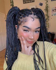 Black Girl Braids, Braided Hairstyles For Black Women, Braids For Black Hair, Girls Braids, Baddie Hairstyles, Box Braids Hairstyles, Girl Hairstyles, Curly Hair Styles, Natural Hair Styles