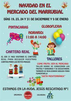 Flyers promoción Asociación MercaMar Navidad 2015 trasera