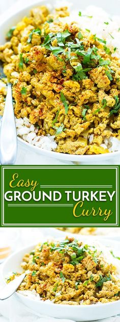 A ground turkey curry dish that is healthy, low-sugar, gluten-free and full of easy to find Indian spices. It makes a super easy lunch or dinner healthy dinner recipe. (Paleo Casserole Ground Turkey)