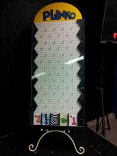 How to make a plinko board, possibly for harvest party