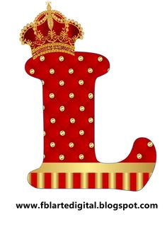 ALFABETO COM TEMA REALEZA COM AS CORES VERMELHO E DOURADO   Olá!!!  Atendendo a pedido, disponibilizo para você o alfabeto realeza com as c...