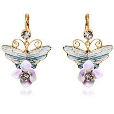Dolce & Gabbana Women Butterfly Earrings (1,115 PEN) ❤ liked on Polyvore featuring jewelry, earrings, multicolor, multi color earrings, monarch butterfly jewelry, monarch butterfly earrings, gold tone earrings and dolce gabbana jewelry