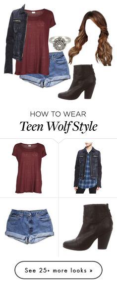 """Teen Wolf: Skylar Argent [3x1]"" by grandmasfood on Polyvore featuring VILA, rag & bone, RtA and AllSaints"