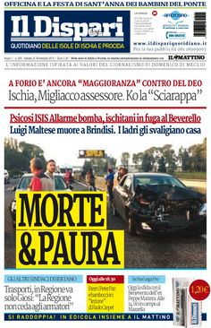 La copertina del 21 novembre 2015 #ischia #ildispari