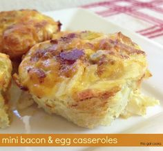 Mini Bacon & Egg Casseroles