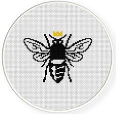 FREE Queen Bee Cross Stitch Pattern