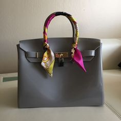 b0f0c1f4c0 Beachkin Gray Jelly Bag Birkin Style New Beach Summer Spring