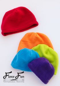 I love this easy basic fleece hat tutorial. I love the free pattern that comes with it.